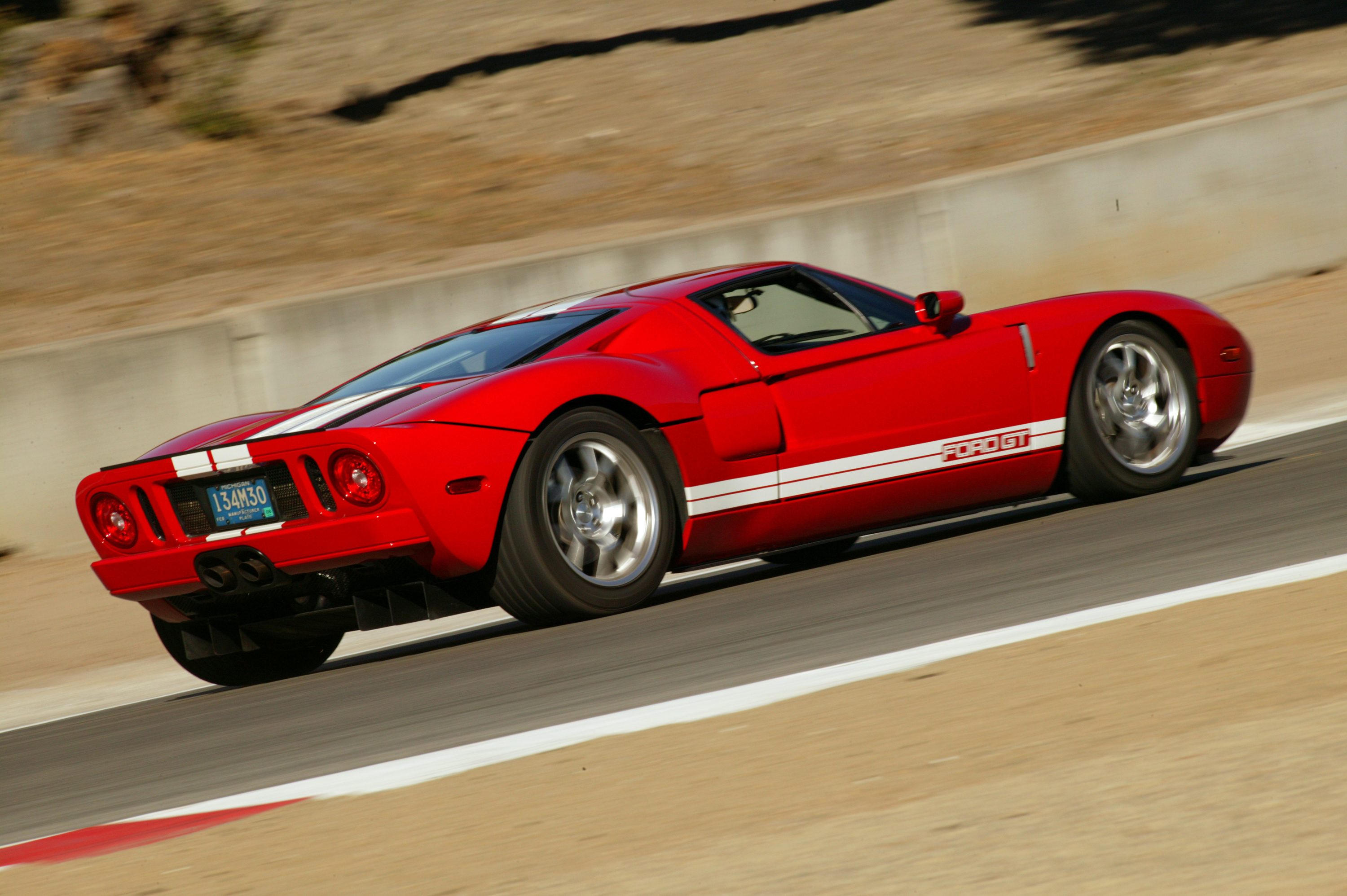Ford Gt Rear Red Gt  Ford Gt Rounding Laguna Seca