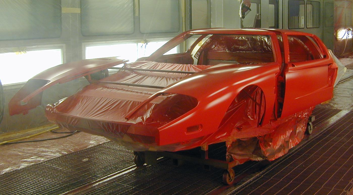 Ford GT Factory Tour Paint Shop