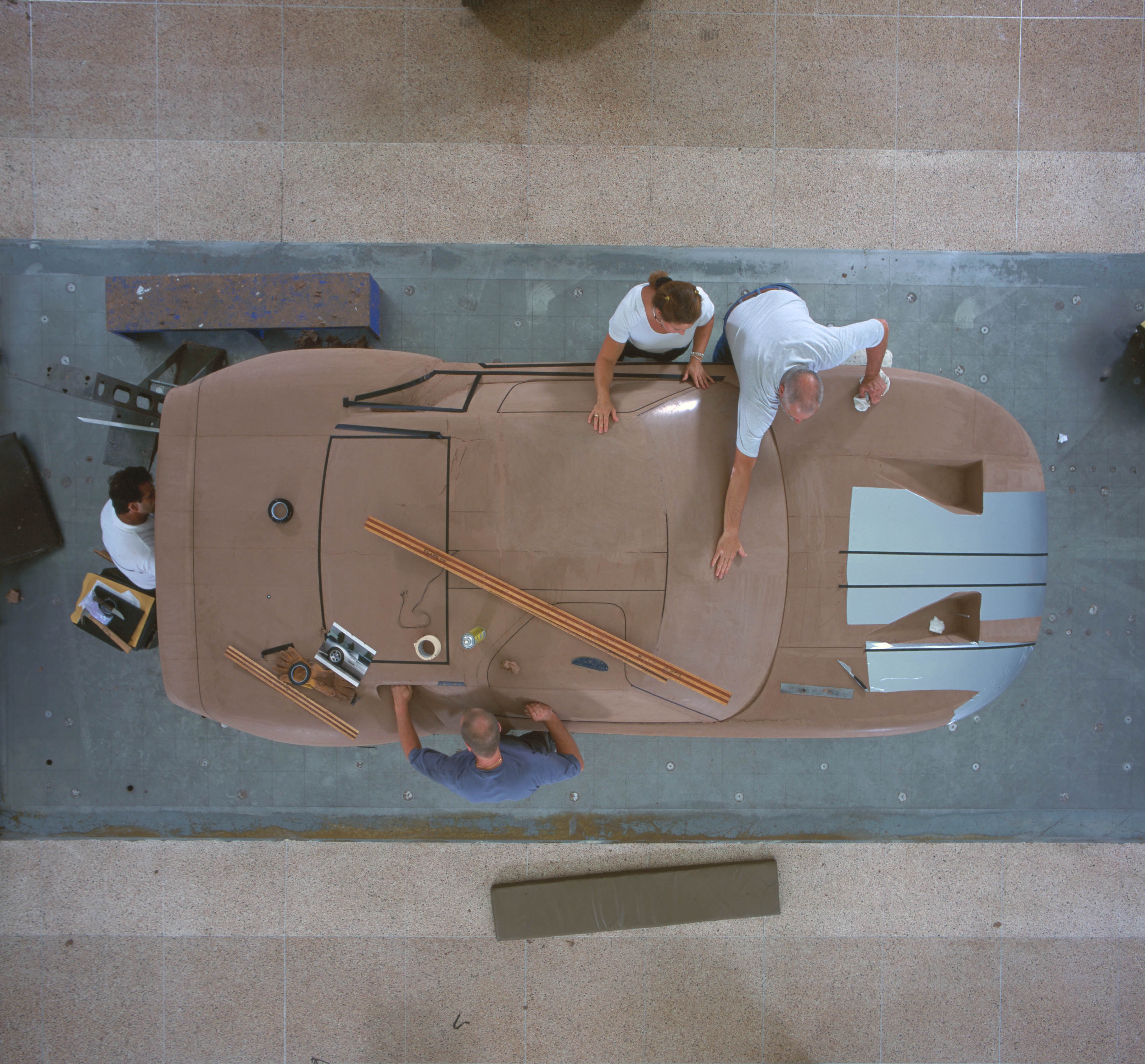Ford GT40 concept in clay modeling