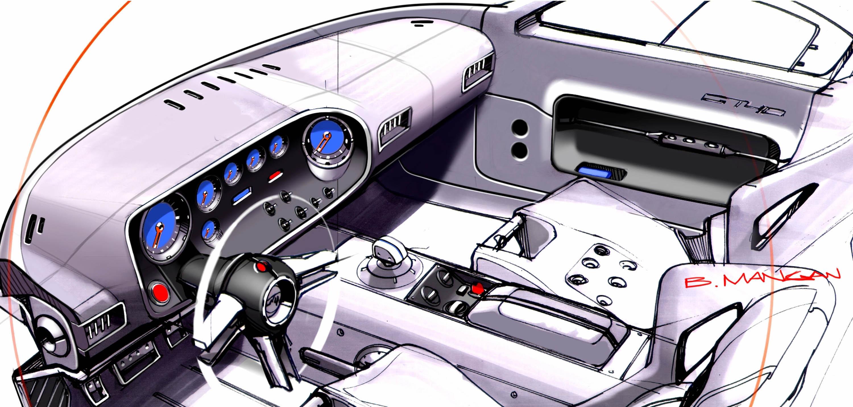 Ford GT40 Interior Sketch