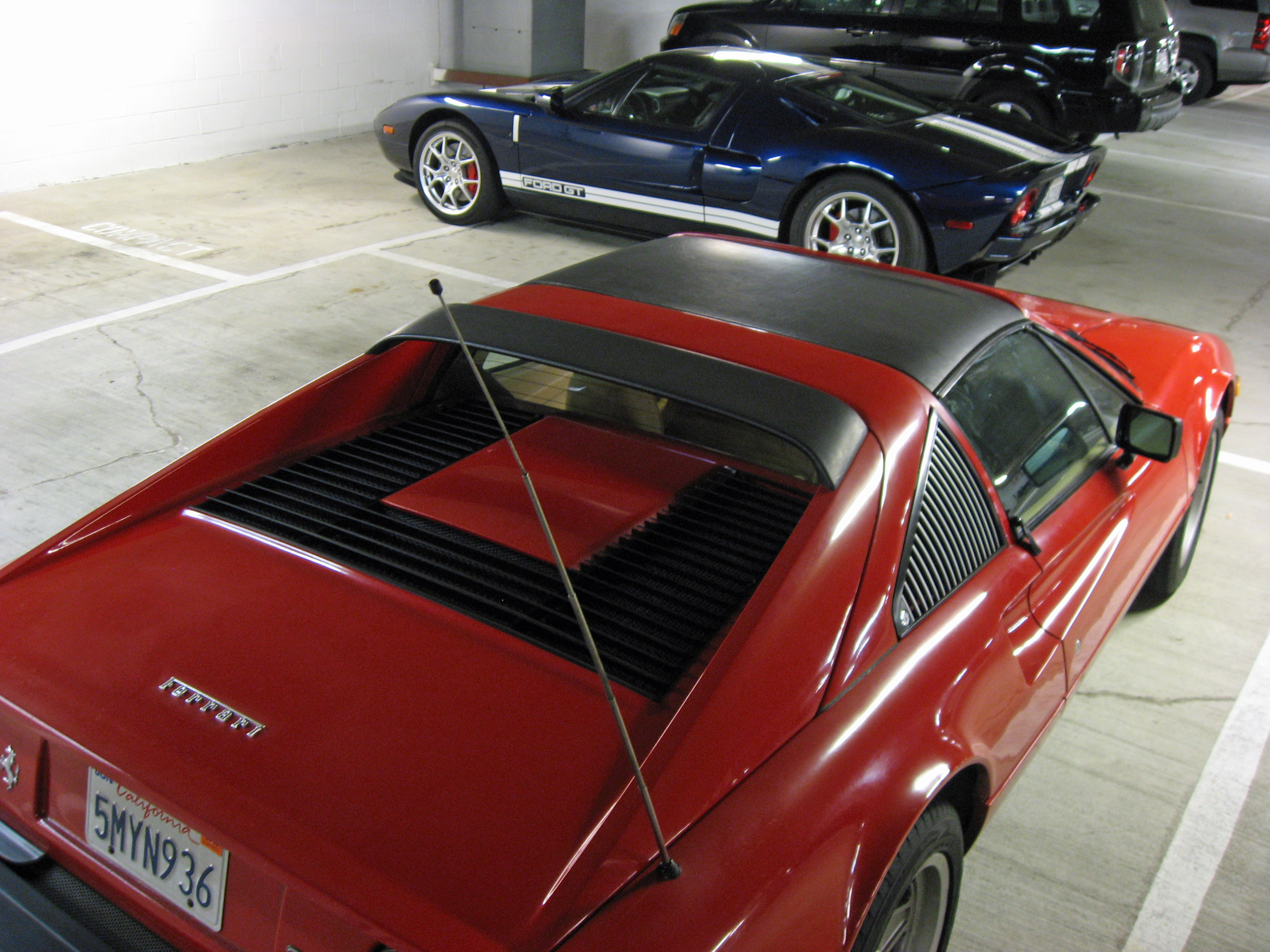 2005 Ford GT Long Term Owners Rally Ferrari 308