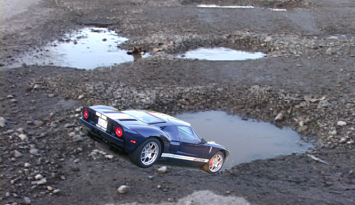 2005 Ford GT Long Term Pothole