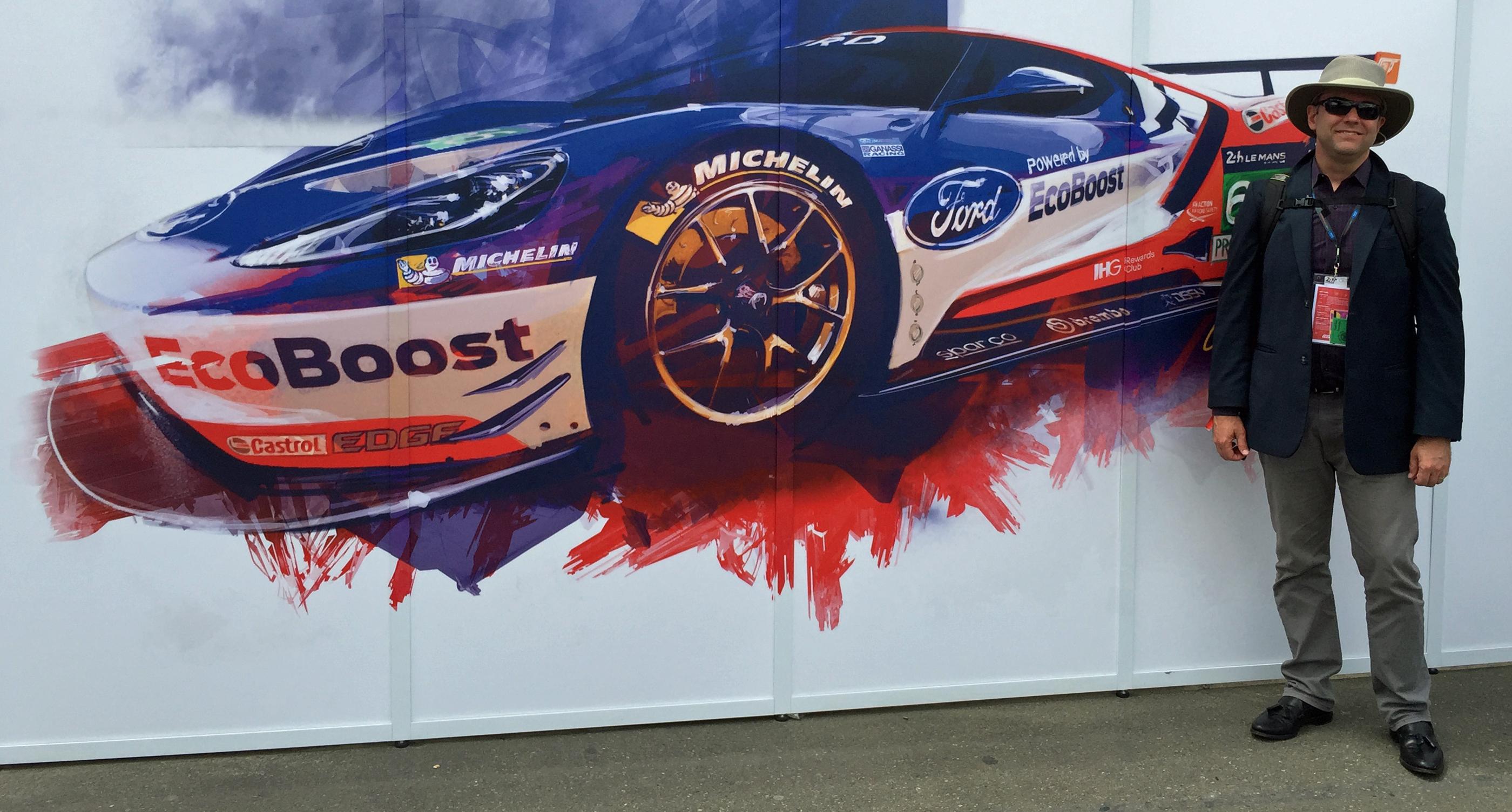 Ford Gt  Le Mans Pit Lane