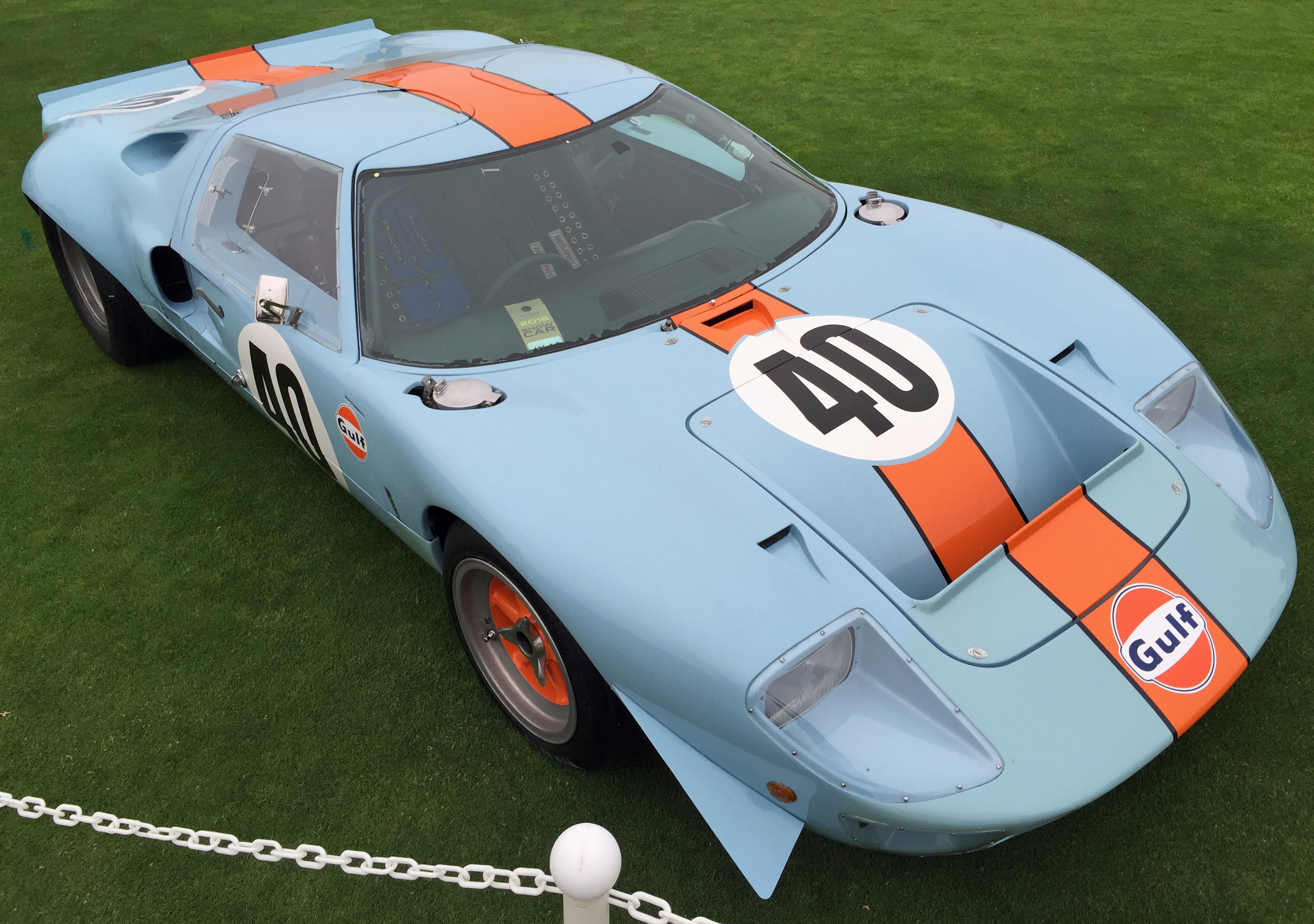 Ford GT40 Pebble Beach Gulf