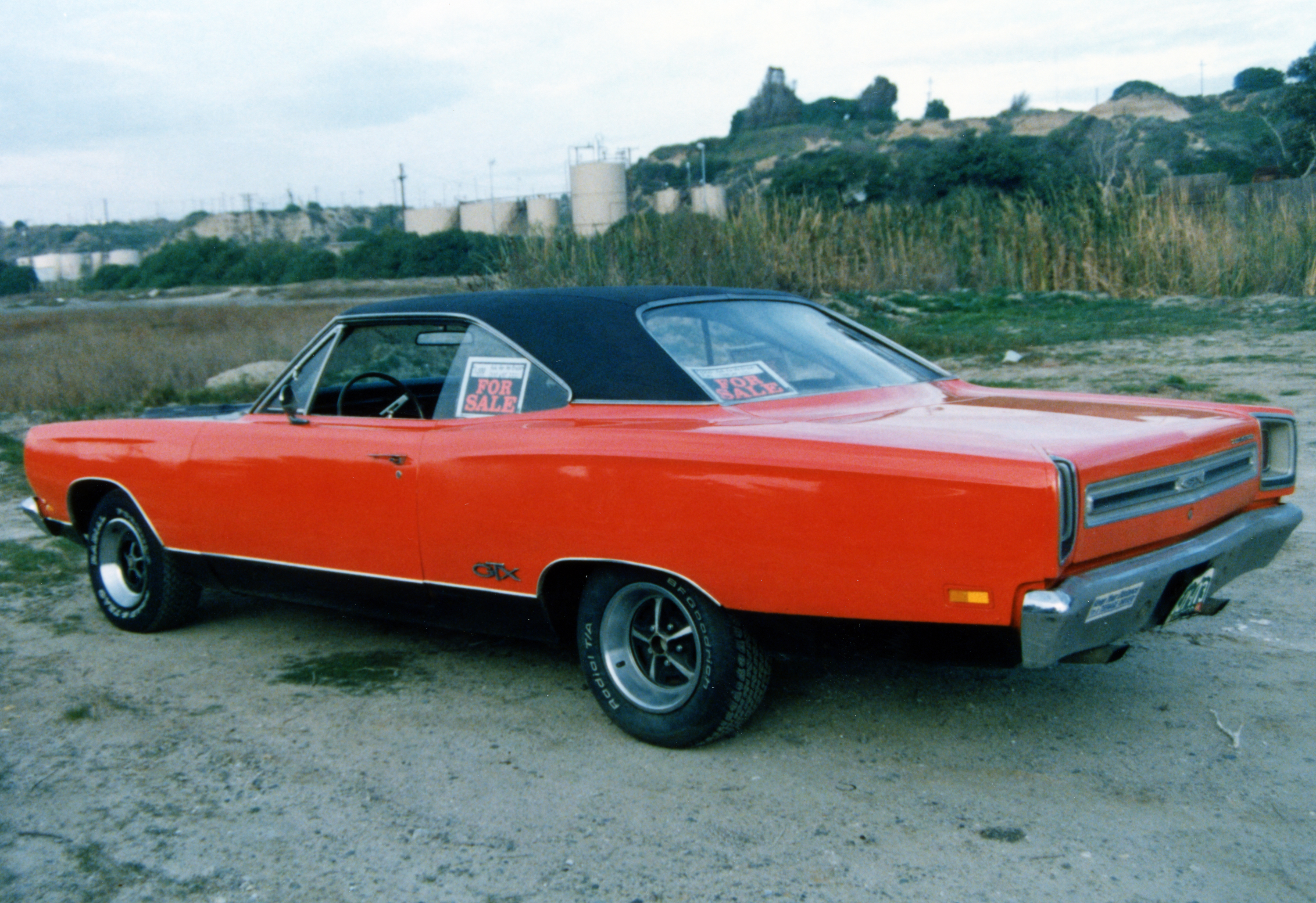 1969 Plymouth GTX Red Rear