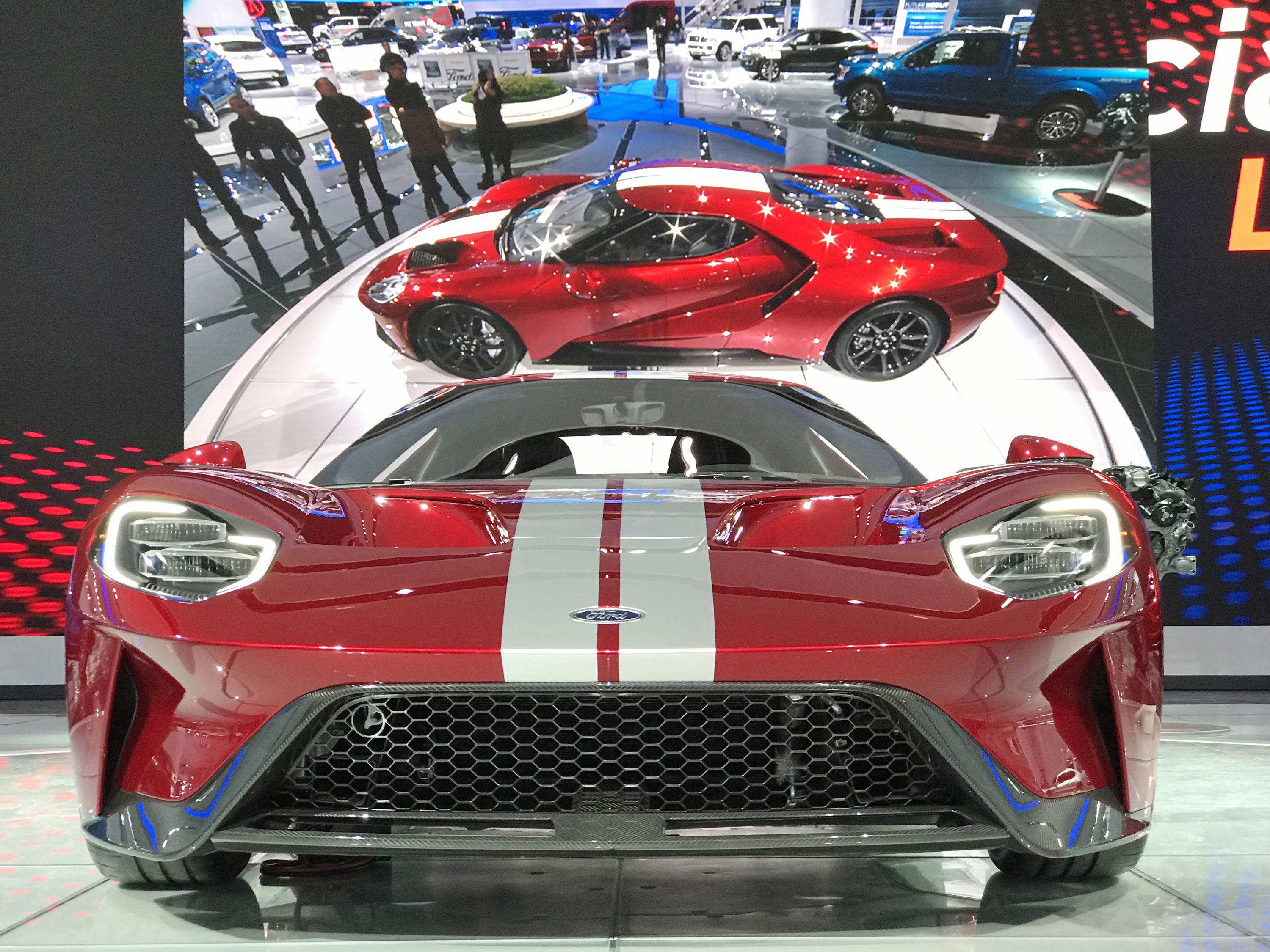 New Ford GT Detroit Auto Show Liquid Red Front