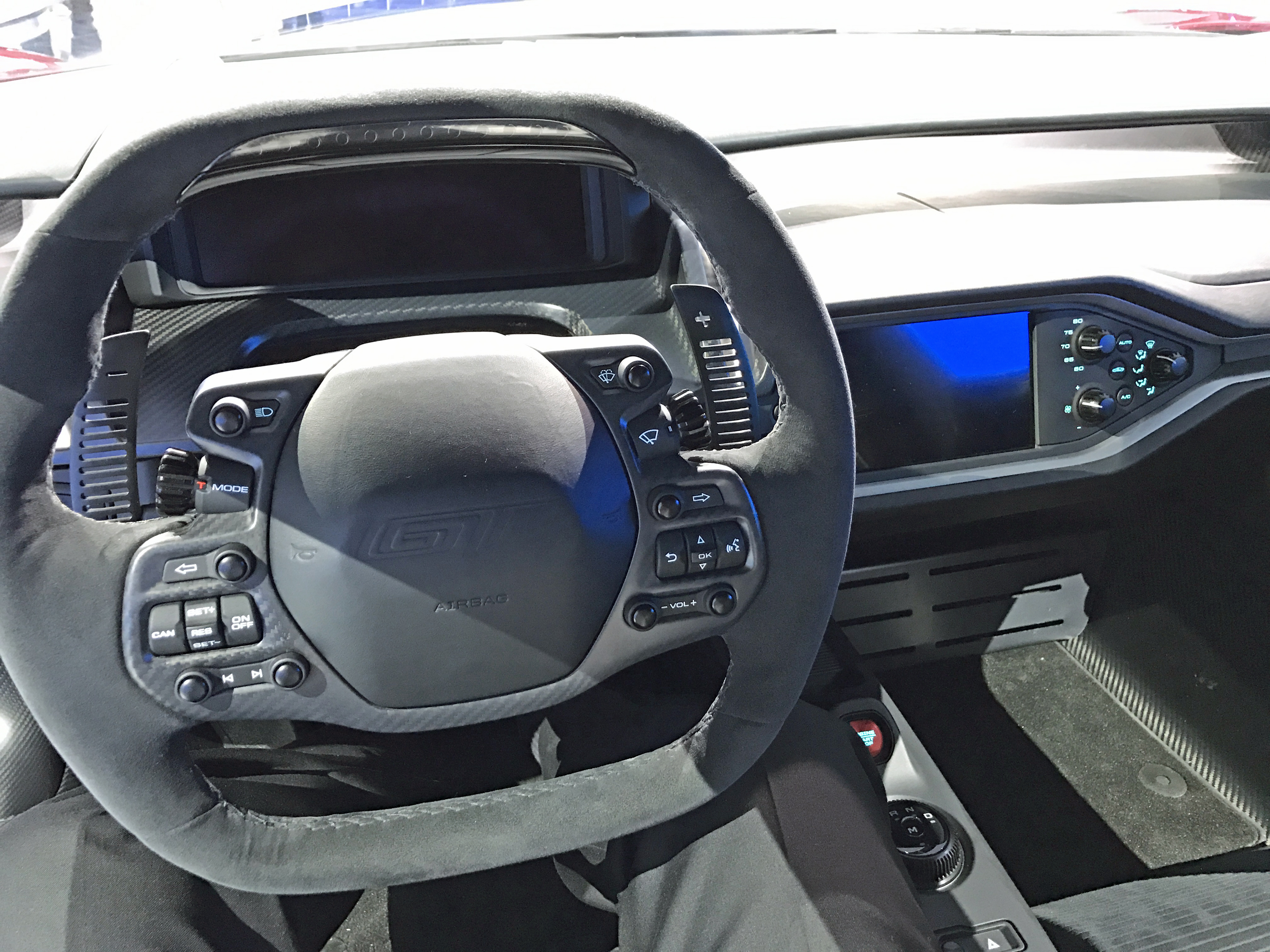 New Ford GT Liquid Red Interior Detroit Show