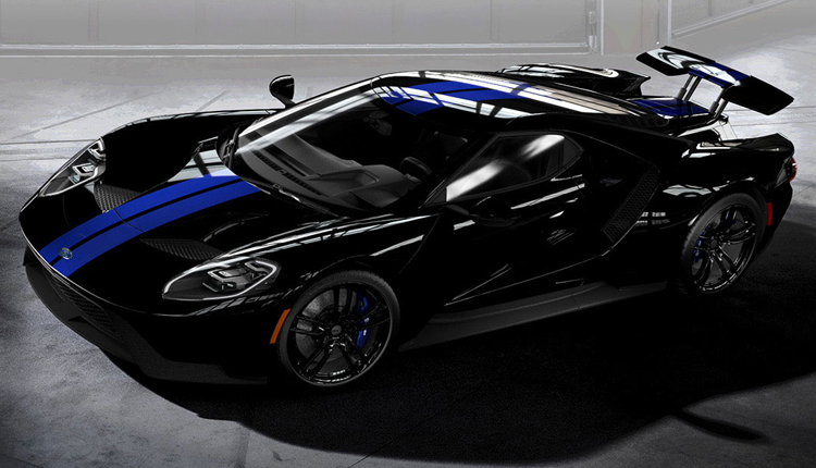 2017 Ford GT Black Blue