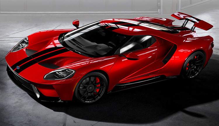 2017 Ford GT Red Black