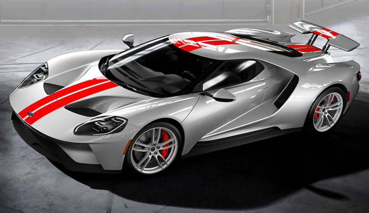2017 Ford GT Silver Red