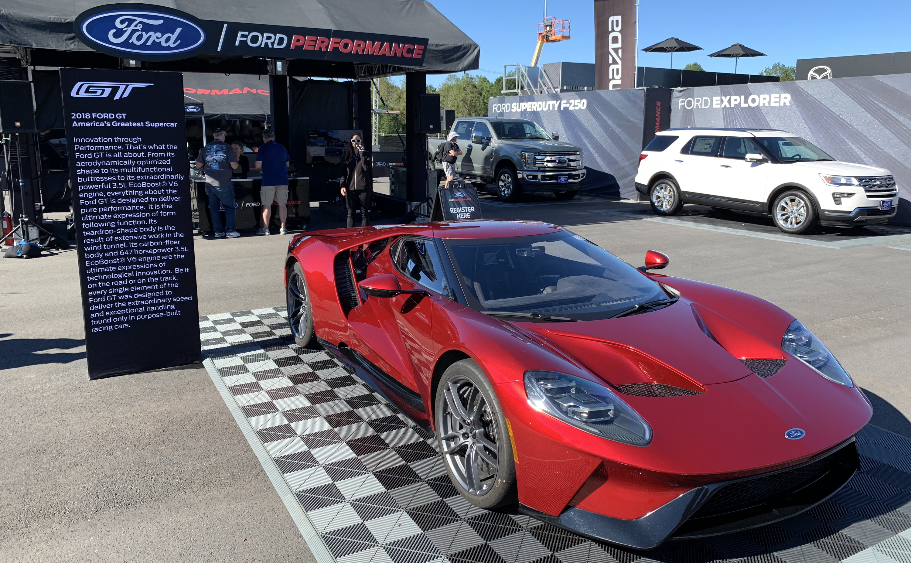 Ford GT Petit Le Mans Ford Performance Booth