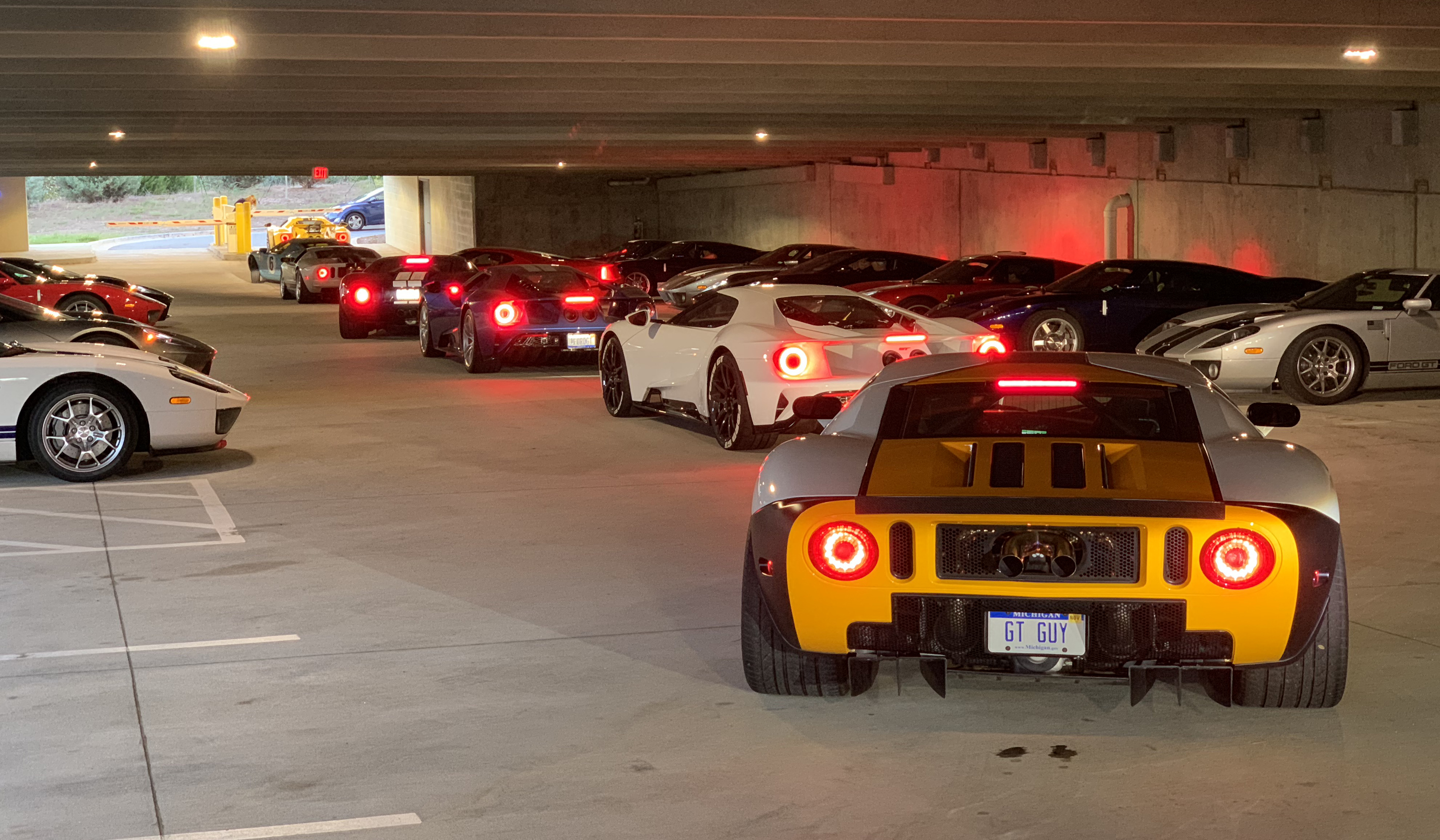 Ford GT Petit Le Mans Parking Structure