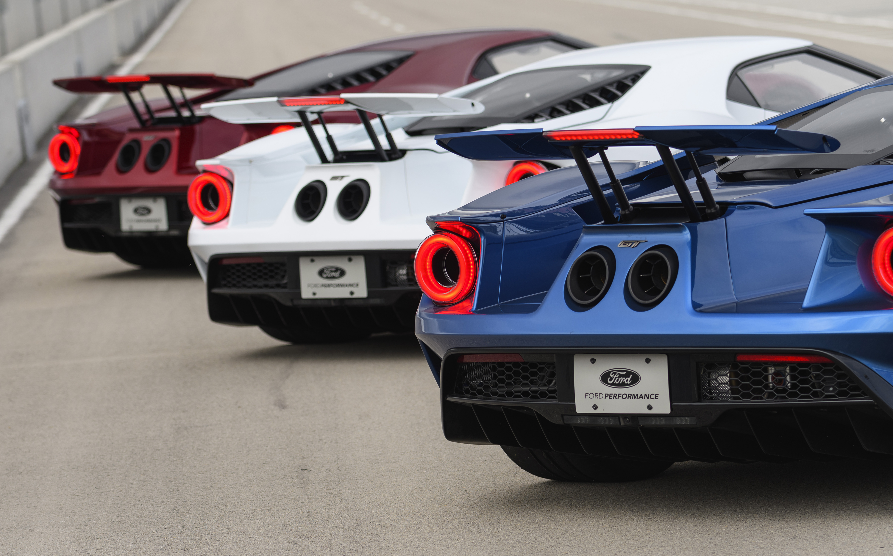 New Ford GT Red White Blue Rear