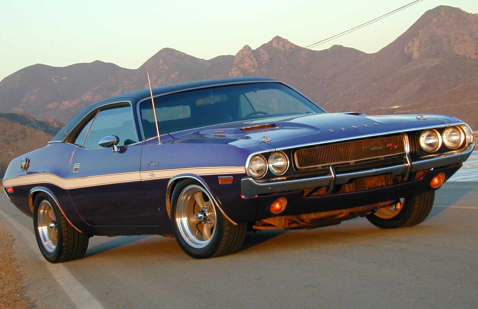 1970 Dodge Challenger RT SE Front Sunset