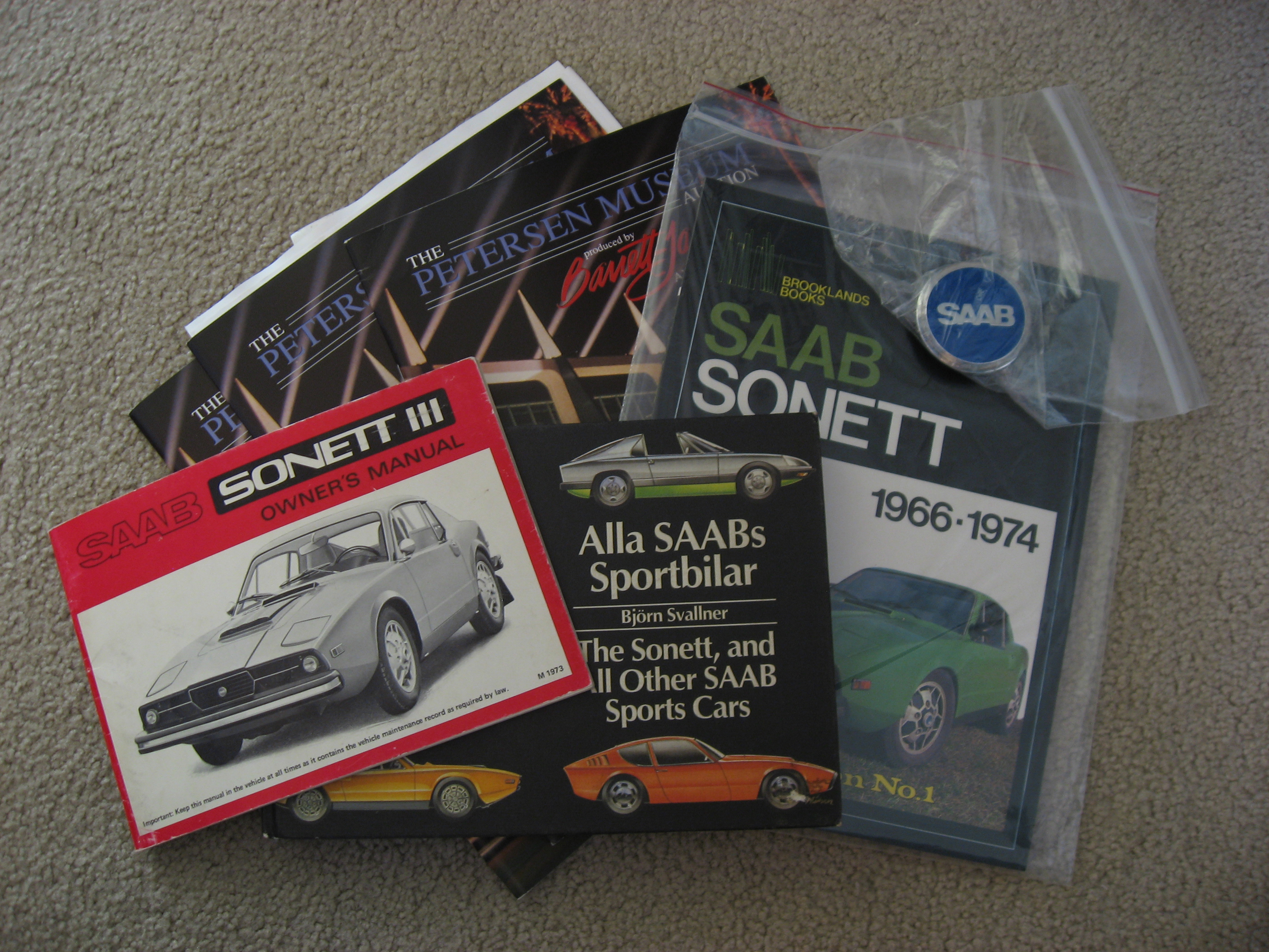 Saab Sonett Books